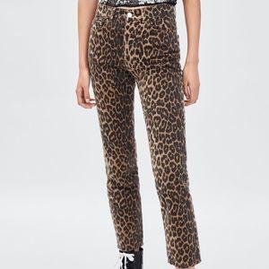 Zara   leopard print jeans